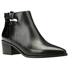 Buy Geox Lia Pointed Toe Ankle Boots, Black Online at johnlewis.com