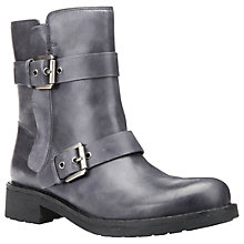 Buy Geox New Virna Double Buckle Ankle Boots, Anthracite Online at johnlewis.com