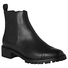 Buy L.K. Bennett Casey Block Heeled Ankle Boots, Black Online at johnlewis.com