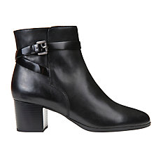 Buy Geox Petalus Block Heeled Ankle Boots, Black Online at johnlewis.com