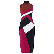 Buy Karen Millen Colourblock Dress, Multicolour Online at johnlewis.com