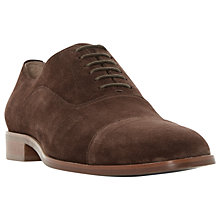 Buy Dune Runyon Oxford Suede Shoes, Brown Online at johnlewis.com