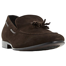 Buy Dune Retreat Suede Tassel Loafers, Dark Brown Online at johnlewis.com