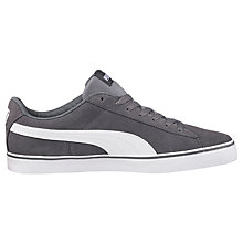 Buy Puma 1948 Vulc Men's Trainers, Grey/White Online at johnlewis.com