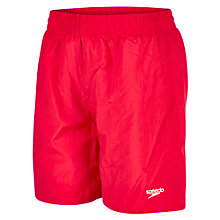 "Buy Speedo Boys' Solid Leisure 15"" Watershorts, Red Online at johnlewis.com"