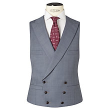 Buy JOHN LEWIS & Co. Drayton Wool Crossweave Tailored Waistcoat, Smokey Blue Online at johnlewis.com
