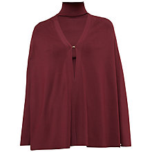 Buy Ted Baker Krystel Compact Knit Cape, Oxblood Online at johnlewis.com