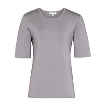 Buy Reiss Karen Textured Knit Jumper, Grey Online at johnlewis.com
