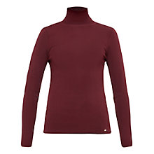 Buy Ted Baker Smone Compact Knit Roll Neck Jumper, Oxblood Online at johnlewis.com
