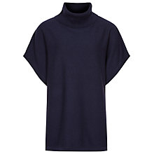 Buy Reiss Ebony Roll Neck Batwing Jumper, Night Navy Online at johnlewis.com