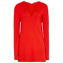 Buy Reiss Harlow Rib Detail Jumper, Clementine Online at johnlewis.com