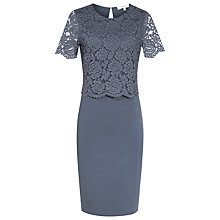 Buy Reiss Darby Jacquard-Detail Dress, Slate Online at johnlewis.com