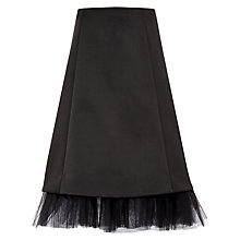 Buy Ted Baker Olenaa Tulle Trim Midi Skirt, Black Online at johnlewis.com