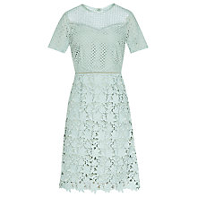 Buy Reiss Heather Mix Lace Dress Online at johnlewis.com