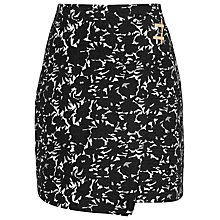 Buy Reiss Naomi Jacquard Wrap Skirt, Black/Off White Online at johnlewis.com