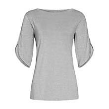 Buy Reiss Tallis Metallic Top, Silver Online at johnlewis.com