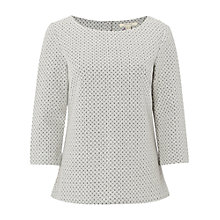 Buy White Stuff Soloman Jersey Top, Thimble/Grey Online at johnlewis.com