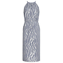 Buy Reiss Cass Metallic Burnout Dress, Grey/Silver Online at johnlewis.com