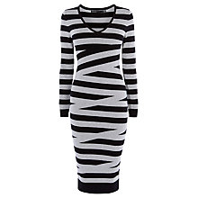 Buy Karen Millen Pieced Stripe Dress, Multi Online at johnlewis.com