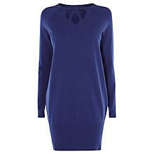 Buy Karen Millen Cut Out Neck Detail Jumper, Blue Online at johnlewis.com