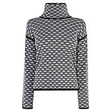 Buy Karen Millen Geo Pattern Jumper, Black & White Online at johnlewis.com