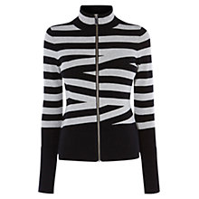 Buy Karen Millen Pieced Stripe Cardigan, Multi Online at johnlewis.com