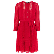 Buy Karen Millen Fashion Feminine Dress, Red Online at johnlewis.com