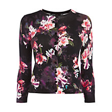 Buy Karen Millen Photographic Orchid Cardigan Online at johnlewis.com
