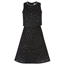 Buy Coast Lilou Animal Dress, Black Online at johnlewis.com