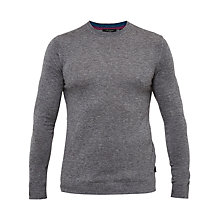 Buy Ted Baker Cashop Cashmere-Blend Crew Neck Jumper, Grey Online at johnlewis.com