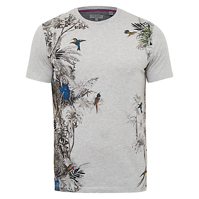 Image of Ted Baker Jelo Round Neck T-Shirt, Grey Marl