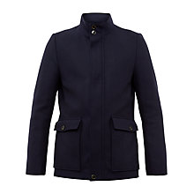 Buy Ted Baker Joplin Twill Button-Through Coat, Navy Online at johnlewis.com