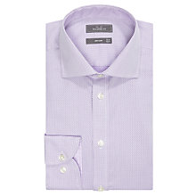 Buy John Lewis Jacquard Tailored Shirt, Lilac Online at johnlewis.com