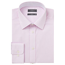 Buy John Lewis Bengal Stripe Tailored Fit Shirt, Pink Online at johnlewis.com
