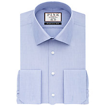 Buy Thomas Pink Oscar Slim Fit Double Cuff Shirt, Blue Online at johnlewis.com