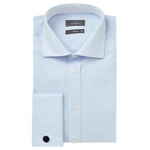 Buy John Lewis Jacquard Double Cuff Tailored Shirt, Sky Online at johnlewis.com