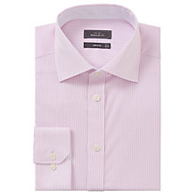 Buy John Lewis Bengal Stripe Regular Fit Shirt, Pink Online at johnlewis.com