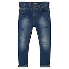 Buy Mango Kids Boys' Carrot Fit Jeans, Ink Blue Online at johnlewis.com