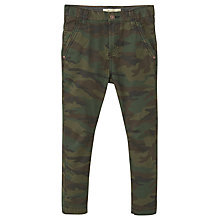 Buy Mango Kids Boys' Camo Print Trousers, Green Online at johnlewis.com