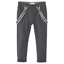 Buy Mango Kids Boys' Braced Trousers, Grey Online at johnlewis.com
