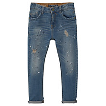 Buy Mango Kids Boys' Paint Drop Carrot Fit Jeans, Blue Online at johnlewis.com