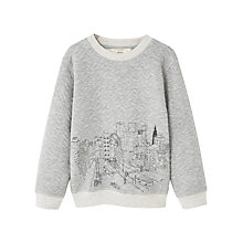Buy Mango Kids Boys' Cartoon Sweatshirt, Heather Grey Online at johnlewis.com