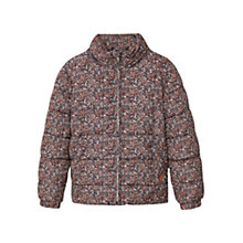 Buy Mango Kids Girls' Printed Quilted Coat, Black Online at johnlewis.com