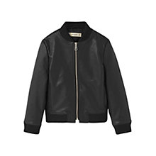 Buy Mango Kids Girls' Bomber Jacket, Black Online at johnlewis.com