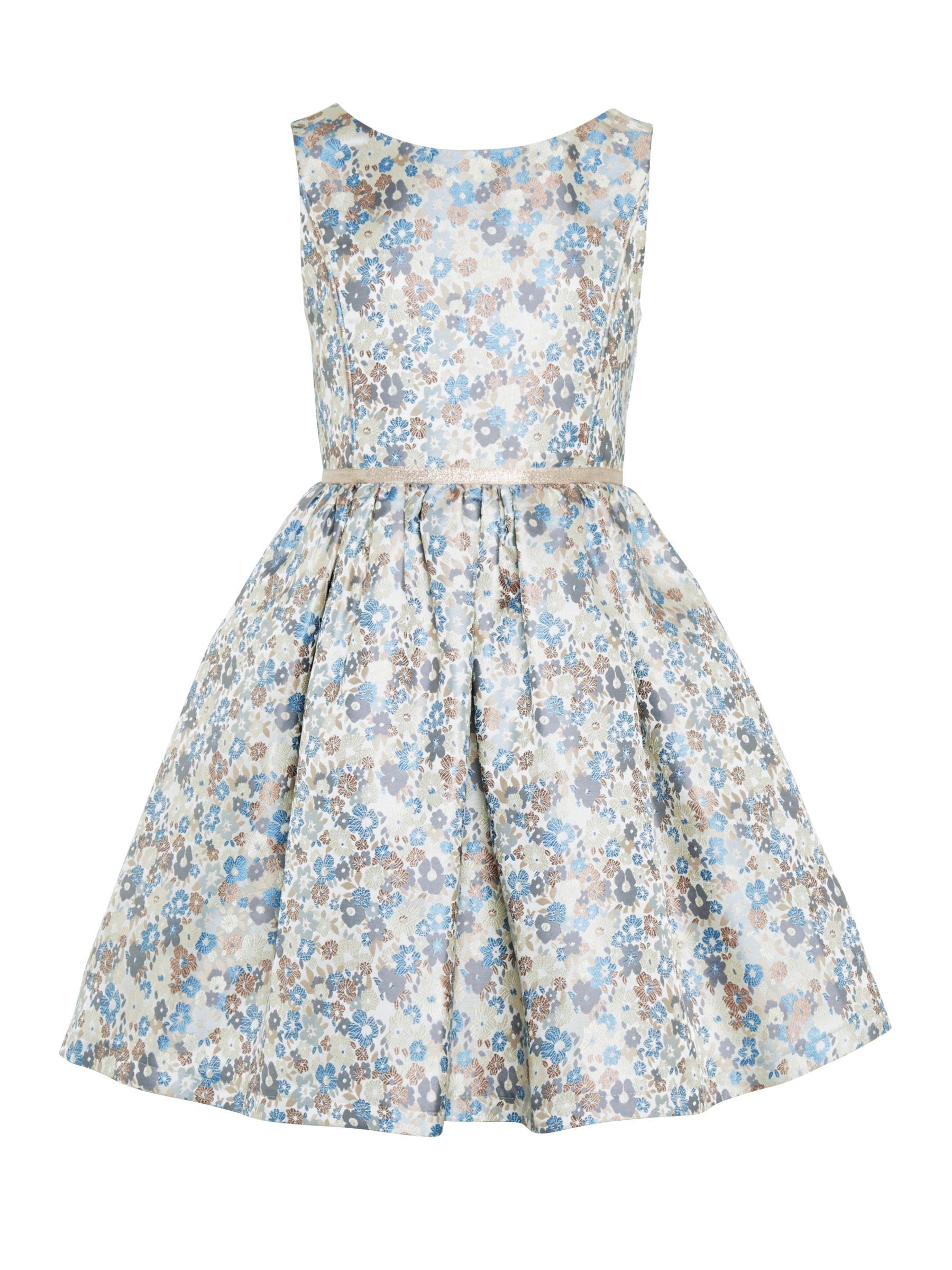 John Lewis Heirloom Collection John Lewis Heirloom Collection Girls' Jacquard Dress, Multi
