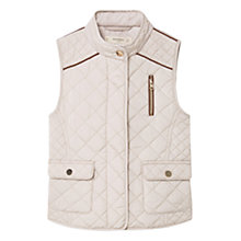 Buy Mango Kids Girls' Quilted Gilet, Beige Online at johnlewis.com