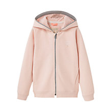Buy Mango Kids Girls' Logo Zip Cotton Hoodie, Light Pastel Pink Online at johnlewis.com