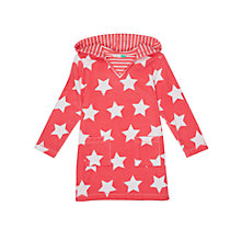 Buy John Lewis Girls' Star Towel Dress, Pink Online at johnlewis.com