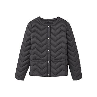 Product photo of Mango kids girls light quilted coat charcoal
