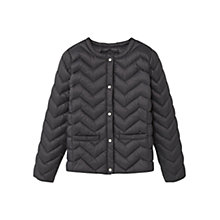 Buy Mango Kids Girls' Light Quilted Coat, Charcoal Online at johnlewis.com